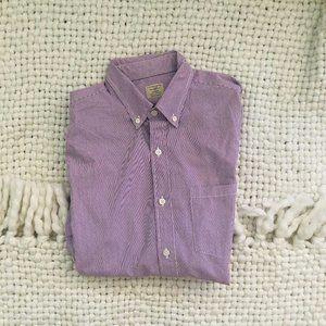 J.Crew 2-Ply Purple & White Men's Dress Shirt